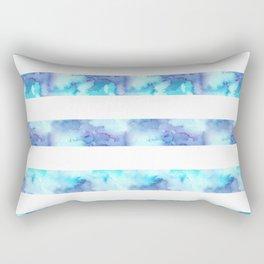 Blue & Purple Watercolor Stripes Rectangular Pillow