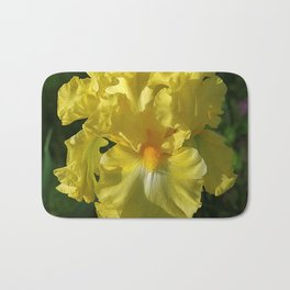 Golden Iris flower - 'Power of One' Bath Mat