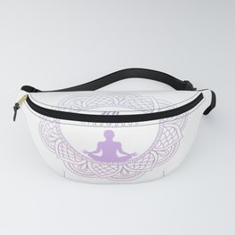 Relaxing Yoga Zen Calligraphy Buddhist Design Circle Enso Raglan Baseball Tee Fanny Pack