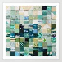 Sea Marks 3 Art Print