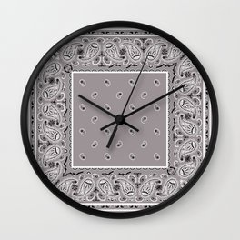 Classic Gray Bandana Wall Clock