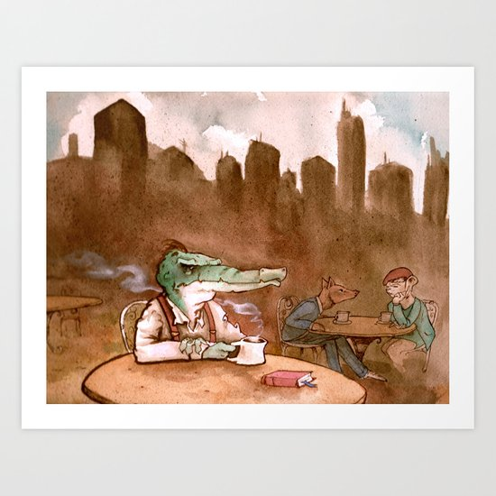 The Heirs to the Glimmering World Art Print