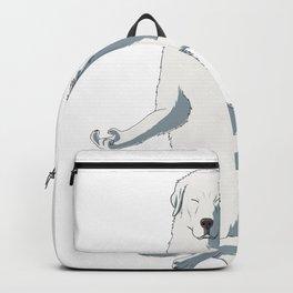 Meditating Maremma Sheepdog Dog Backpack