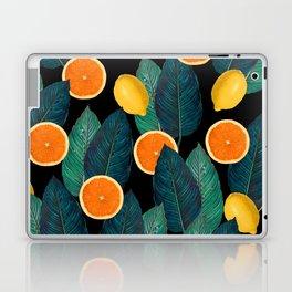 Lemons And Oranges On Black Laptop & iPad Skin