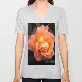 Rose With Dew Abstract Unisex V-Neck