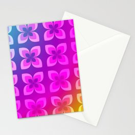 60's or 80's Neon Flowers Stationery Cards