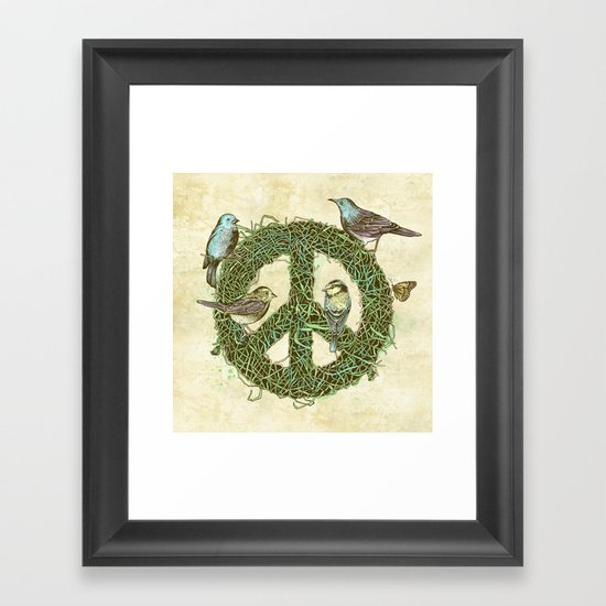 Peace Talks Framed Art Print