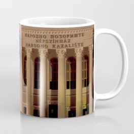 Night shot of national theatre in Subotica, Serbia Coffee Mug