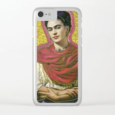 Holy Frida / Santa Frida Clear iPhone Case