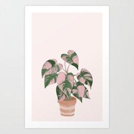 Pink Princess Philodendron Art Print