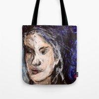 indigo Tote Bags featuring Indigo by Helen Syron