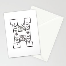 H is for Stationery Cards