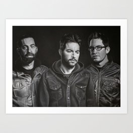 Chevelle Charcoal Drawing Art Print