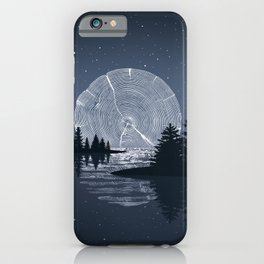 Moon Rise over the Lake iPhone Case