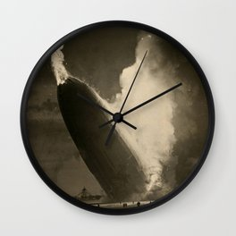 The Hindenburg hits the ground in flames in Lakehurst, N.J. Wall Clock