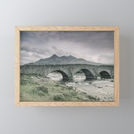 The Bridge and the Cuillin Framed Mini Art Print
