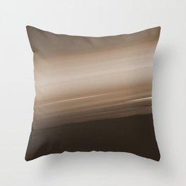 Sepia Brown Ombre Throw Pillow