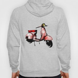 Red Vespa Scooter Hoody