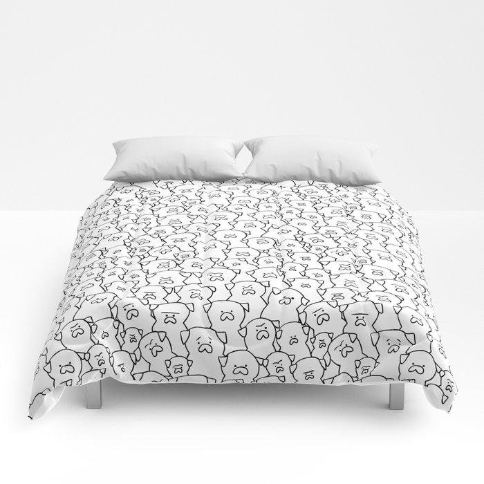 Pugs Grumble Comforters