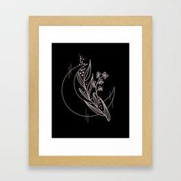 Lavendar Moon Framed Art Print