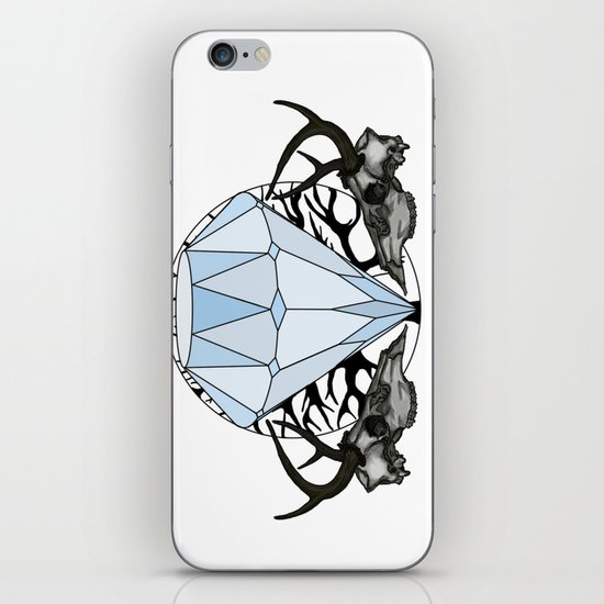 Diamond and skulls iPhone & iPod Skin