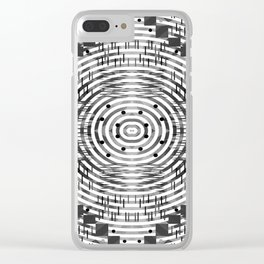 Pattern in black and white Clear iPhone Case