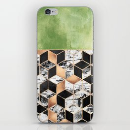 Birch Tree Cubes iPhone Skin
