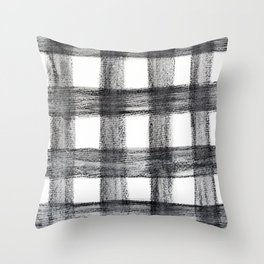 Black and White Buffalo Plaid Throw Pillow