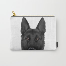 Black German Shepherd, Original painting by miart Carry-All Pouch