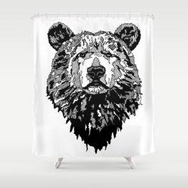 WHITE BEAR Shower Curtain