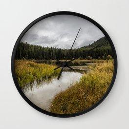Cattleman's Bridge Site - Grand Tetons Wall Clock