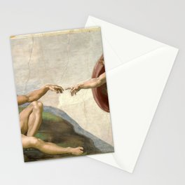Michelangelo, The Creation of Adam, 1510 Stationery Cards