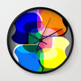 Multicolored abstractions Wall Clock