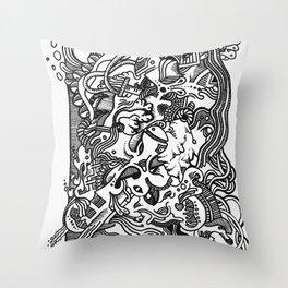 Cluster Cluck Throw Pillow