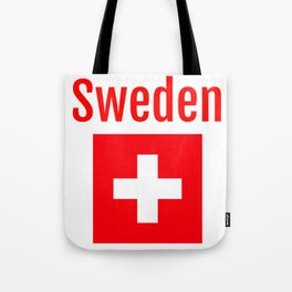 Sweden - Swiss Flag Tote Bag