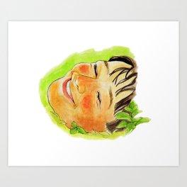 lie on the grass Art Print