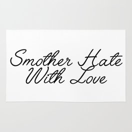 smother hate Rug