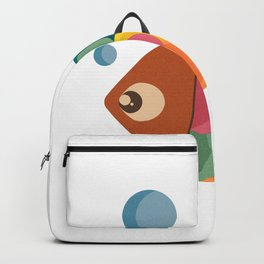 Colorful Fish Underwater Single Swimmer Backpack