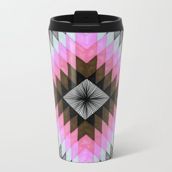 Cosmic Eye - Fire Opal Metal Travel Mug