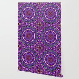 Bohemian Blossom Mandala Wallpaper