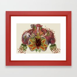 grow anatomical collage art by bedelgeuse Framed Art Print