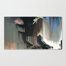 A Place I know: digital glitch painting Canvas Print