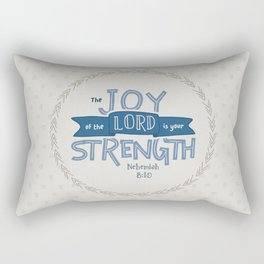 """""""The Joy of the Lord"""" Hand-Lettered Bible Verse Rectangular Pillow"""