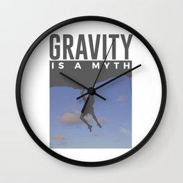 Gravity Is A Myth Rock Wall Climbing Wall Clock