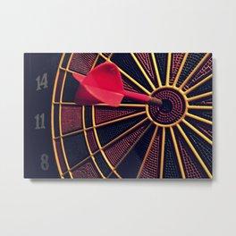 Dart Board Metal Print