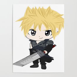 White cloud with sword Poster