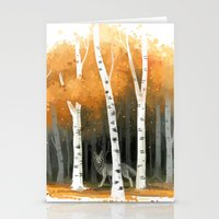 freeminds Stationery Cards featuring Autumn Wolf by Freeminds