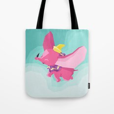 The Flying Elephant Tote Bag
