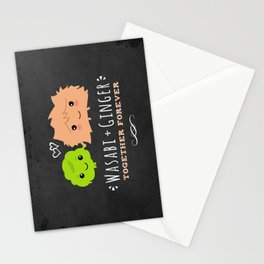 Wasabi and Ginger Together Forever | Cute Sushi Lover's Couple Stationery Cards