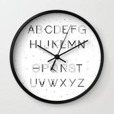 Craft Font Wall Clock